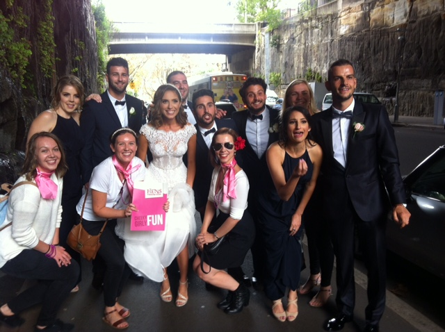 Sydney hens fun - our 50's hens theme with a bridal party.